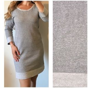 J. CREW Gray Cozy Sweatshirt Dress Medium